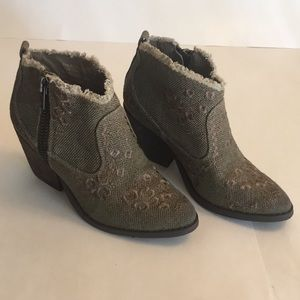 Naughty Monkey Women's Sewn Up Ankle Bootie Sz 7